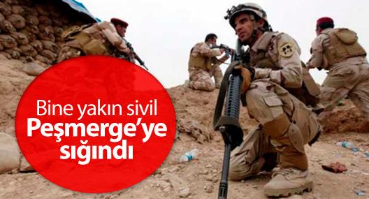 Musul'a operasyon sürüyor, bine yakın sivil Peşmerge'ye sığındı