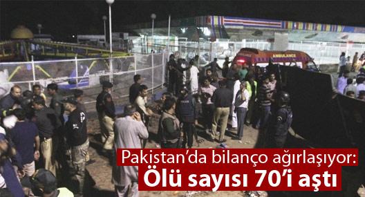 Pakistan'da bilanço ağırlaşıyor: Ölü sayısı 70'i aştı