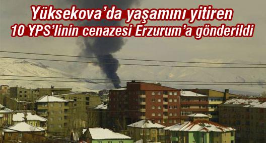 Yüksekova'da yaşamını yitiren 10 YPS'linin cenazesi Erzurum'a gönderildi