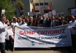 Sağlık emekçilerinin açığa alınması protesto edildi