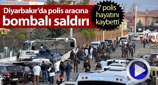 Diyarbakır'da polis aracına bombalı saldırı: 7 polis hayatını kaybetti