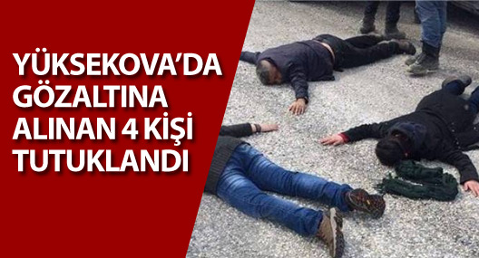 Yüksekova'da 4 kişi tutuklandı