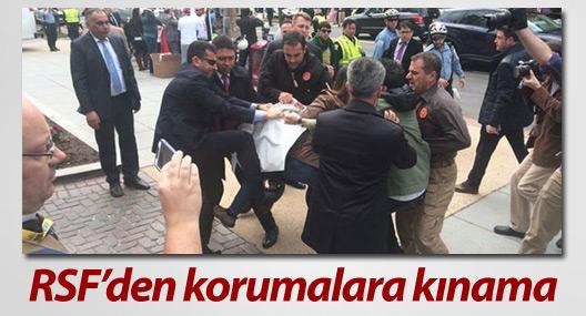 RSF'den Erdoğan'ın korumalarına kınama