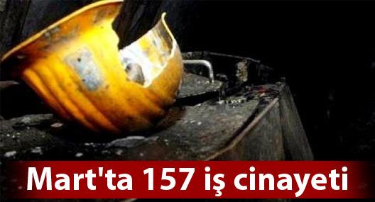Mart'ta 157 iş cinayeti