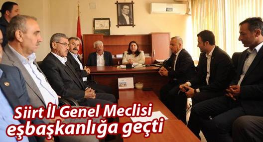 Siirt İl Genel Meclisi eşbaşkanlığa geçti