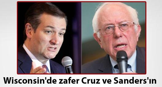Wisconsin'de zafer Cruz ve Sanders'ın