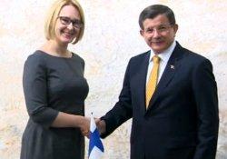 Davutoğlu Finlandiya Parlamento Başkanı ile görüştü