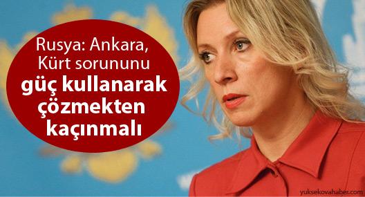 'Ankara'yı Kürt sorununu güç kullanarak çözmekten kaçınmaya çağırıyoruz'