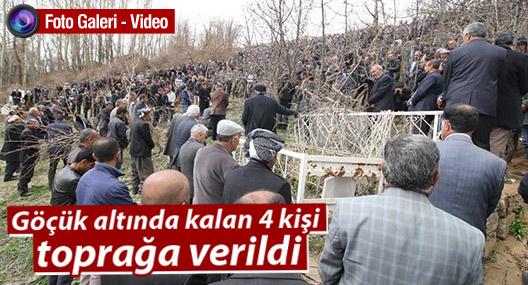 Yüksekova Onbaşılar köyünde göçük altında kalan 4 kişi toprağa verildi