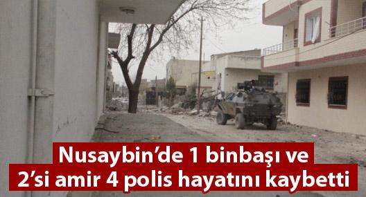 Nusaybin'de 1 binbaşı ve 2'si amir 4 polis yaşamını yitirdi
