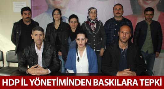 HDP il yönetiminden baskılara tepki