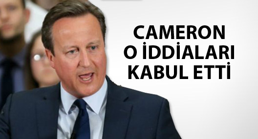 Cameron babasının Panama'daki şirketinde hissesi olduğunu kabul etti