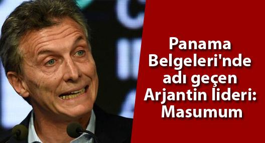 Panama Belgeleri'nde adı geçen Arjantin lideri: Masumum