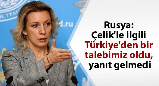 Rusya: Alparslan Çelik'le ilgili Türkiye'den bir talebimiz oldu, yanıt gelmedi