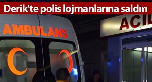 Derik'te polis lojmanlarına saldırı