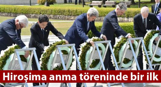 ABD, Hiroşima anma törenine Kerry'le katıldı