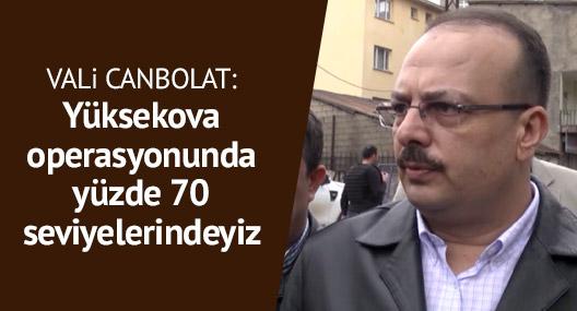 Vali Yakup Canbolat: Yüksekova operasyonu %70'ler seviyesinde