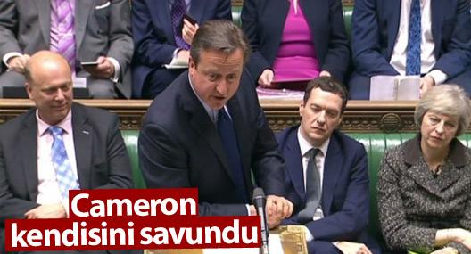 İngiltere Başbakanı Cameron Avam Kamarası'nda kendisini savundu