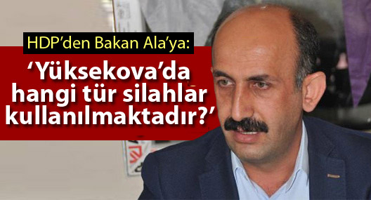HDP'li Akdoğan: Yüksekova'da hangi tür silahlar kullanılmaktadır?