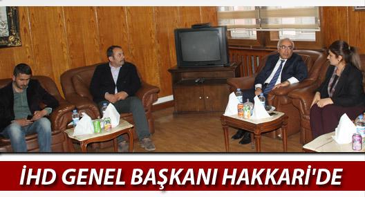 İHD Başkanı Türkdoğan, Hakkari'ye geldi
