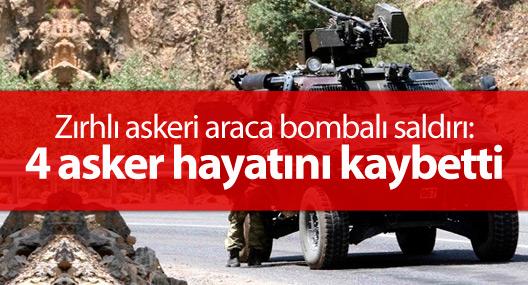 Savur'da askeri araca bombalı saldırı: 4 asker hayatını kaybetti