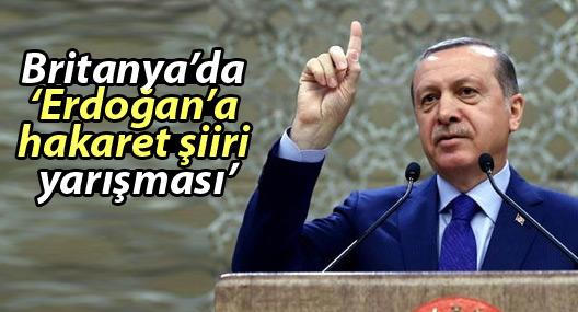 Britanya'da 'Erdoğan'a hakaret şiiri yarışması'