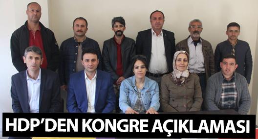 HDP'den kongre açıklaması