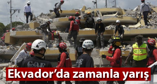 Ekvador: Depremin ardından zamanla yarış