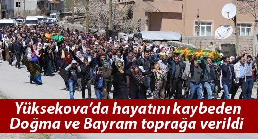Yüksekova'da hayatını kaybeden Doğma ve Bayram, Van'da toprağa verildi