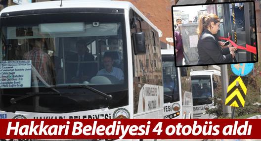 Hakkari Belediyesi 4 otobüs aldı