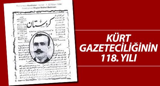 Kürt gazeteciliğinin 118. yılı