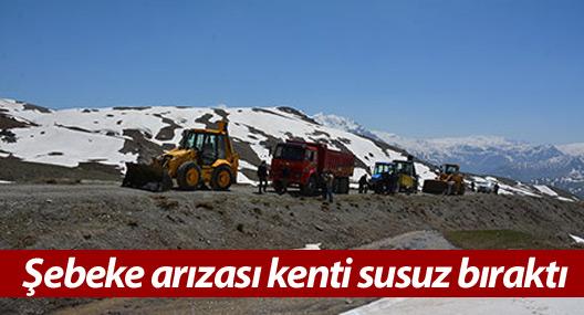 2 Bin 750 rakımdaki şebeke arızası kenti susuz bıraktı