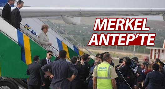 Başbakan Davutoğlu ve Merkel Antep'te