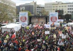 Almanya'da ABD-AB ticaret anlaşmasına karşı gösteri
