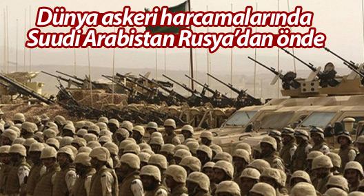 Dünya askeri harcamalarında Suudi Arabistan Rusya'dan önde
