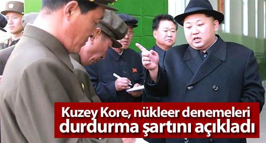 Kuzey Kore, nükleer denemeleri durdurma şartını açıkladı