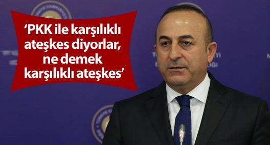 Çavuşoğlu:PKK ile karşılıklı ateşkes diyorlar, ne demek karşılıklı ateşkes?