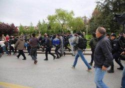 Meclis önündeki 'laiklik' açıklamasına polis müdahalesi