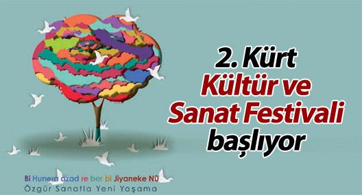 2. Kürt Kültür ve Sanat Festivali başlıyor
