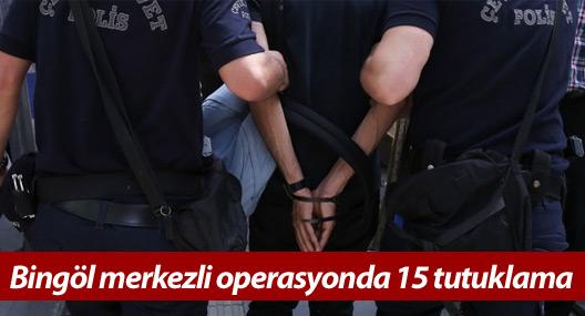 Bingöl merkezli operasyonda 15 tutuklama