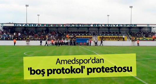 Amedspor'dan 'boş protokol' protestosu