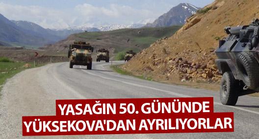 Yasağın 50. gününde Yüksekova'dan ayrılıyorlar