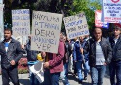 Maden işçileri 1 Mayıs'ta eylem yaptı