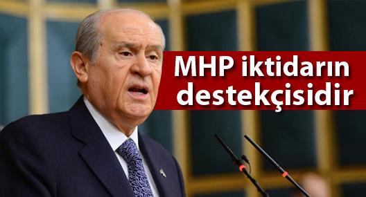 Devlet Bahçeli: MHP iktidarın destekçisidir