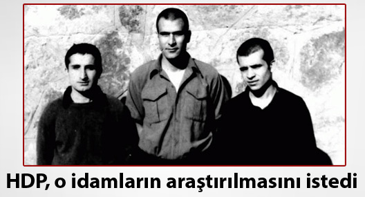 HDP; Deniz, Yusuf ve Hüseyin'in idamlarının araştırılmasını istedi