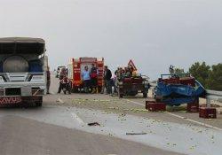 Kamyonet tarım aracına çarptı: 1 ölü
