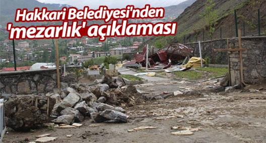 Hakkari Belediyesi'nden 'mezarlık' açıklaması