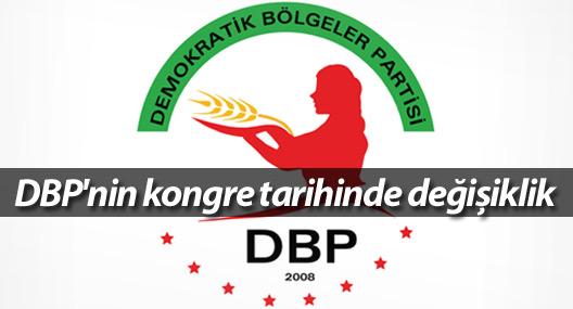 DBP'nin kongre tarihinde değişiklik
