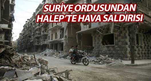 Suriye ordusu Halep'te 'muhalifleri vuruyor'
