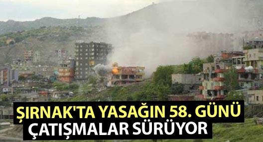 Şırnak'ta yasağın 58. günü: Çatışmalar sürüyor